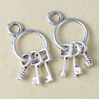 20pcs Tibetan silver keys zinc alloy jewelry Findings Pendant Parts