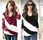 New Fashion Women's Batwing Top Dolman Lace Loose Long Sleeve T-Shirt Blouse J6P