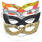 Fancy Dress SEQUIN SEXY cat woman EYE MASK Red Black Gold Silver New BALL PARTY