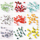 Hot 3mm 100pcs Multicolor Wholesale Crystal Teardrop Rondelle Loose spacer Beads
