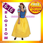 I25 Ladies Princess Snow White Fairy Tale Long Fancy Dress Up Halloween Costume