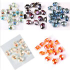 10pc Cube Rhomb Spacer Loose Beads Faceted Glass Crystal Jewelry Making 12x14mm