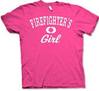 "FIREFIGHTER'S GIRL ""Distressed Print""  Pink or Navy Blue Cotton T-shirts"