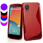 S Line Wave Gel TPU Case Cover For LG Nexus 5 + Screen Protector