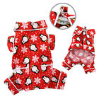 New Klippo 4 Legged Red Flannel Penguin Design Dog Pajamas PJ's Various Sizes