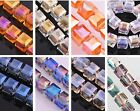 10pcs Glass Crystal Charms Big Cube Square Necklace Finding Spacer Beads 13.5mm