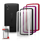 ORZLY FUSION BUMPER CLEAR REAR PANEL FOR LG GOOGLE NEXUS 5 + SCREEN PROTECTOR