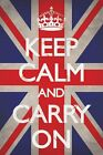 New Keep Calm Union Jack Keep Calm and Carry On Poster