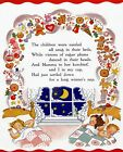 CHRISTMAS CHILDREN BEDS PRESENTS GIFTS DANCING MAMMA TOYS VINTAGE POSTER REPRO