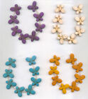 Turquoise MAGNESITE Butterfly Beads 15mm x 20mm Butterflies