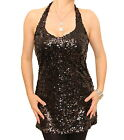 New Fully Lined Sequin Halter Neck Top - Tunic Length