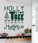 Christmas Decor Vinyl Wall Decals Sticker Words Letters Home Holiday Decor Art