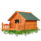 A-Frame Wooden DogHouse Porch Pups Wood Dog House Sizes S M L