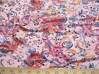 Discount Fabric Fancy Lycra /Spandex Pink Holographic Floral Abstract 105FL