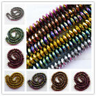 Mixed Color Hematite Rondelle Loose Bead 15.5 inch 1 Or 6 Strand 8x3mm TT-4