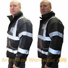 ID Patch / Badge Hi Viz Waterproof Padded Bomber Jacket Security Coat Warm Mens