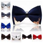 Fashion High Quality Men Vintage Wedding Metal Leather Necktie Bow Tie Party 07