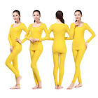 New Women's Winter Cycling Bike Camping Hiking Thermal Underwear Clothing Yellow