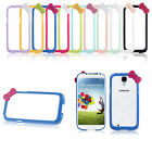 Cute Bow Bowknot Hard PC Bumper Frame Cover Case for Samsung Galaxy S4 SIV i9500