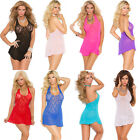Plus Size Lingerie OS Queen Black Pink Red Turquoise White Sexy Chemise EM1422Q