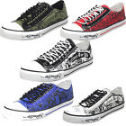 Ed Hardy Men's Low Rise Benoit Canvas Slip-On Fashion Sneakers Shoes | 5 Colors
