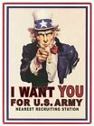 New I Want You! Uncle Sam Metal Tin Sign