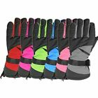 Winter Ski Snowboard Snow Sports Thermal Waterproof Unisex Mens Womens Gloves