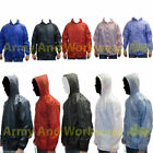 Lightweight Unisex Rain Jacket Coat Kagoul Hooded Pac A Way Showerproof Mac Hood