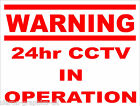 CCTV in Operation Sign for Office Factory Shop or Home 200mm x 300mm