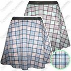 NEW LADIES TARTAN CHECK PRINT SKATER SKIRT WOMENS MINI SUMMER LOOK FLARED SKIRTS