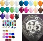 65th Birthday Party Helium Balloons Ribbons Weights 10 Table Decoration Kit
