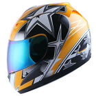 WOW ADULT MOTORCYCLE FULL FACE HELMET BLACK BLUE GREEN RED PINK ORANGE YELLOW