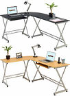 Corner Computer Desk with Keyboard Shelf for Home & Office - Piranha Dorado PC 9