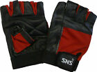 SNS Weightlifting Gloves Lycra back and Leather Palm NEW