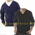 Mens Plain Casual Long Sleeve V Neck Jumper Sweater Pullover Golf Uniform Top