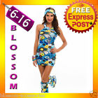 I39 60s 70s Retro Hippie Girl Disco Dancing Groovy Fancy Dress Hens Costume