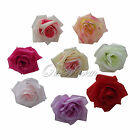 50 Simulation Flowers Artificial Silk Flower Heads DIY Best Gift Silk Rose Clip