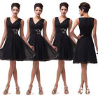 UK STOCK FAST Women's Fashion Ruffles Bridesmaid Evening Formal Prom Short Dress