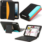 For Apple iPad Mini 1 2 Retina Stand Leather Case Cover With Bluetooth Keyboard