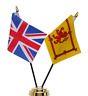 More images of United Kingdom & Scotland Lion Rampant Double Friendship Table Flag Set