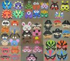 EVA foam masks FREE POST pirate animal superhero Robot insect Monster Dinosaur