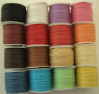 0.5mm/0.7mm x 10 Metres WAXED COTTON CORD choice of 16 colours