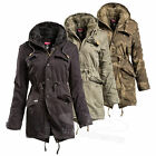 SURPLUS RAW VINTAGE™ Damen Raincheater 2in1 Jacke Bundeswehr Parka Regen Mantel