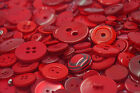 Red Art & Craft Sewing Buttons mixed sizes large small Round Bulk Wholesale 100g