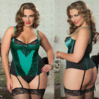 Plus Size Lingerie One Size 1/2X or One Size 3/4X Bustier and Thong  STM9637X