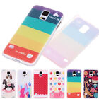 Cartoon Cake Cat Tower Floral Hard PC Snap Back Case Cover For Samsung Galaxy S5