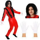 KIDS KING OF POP COSTUME SUPERSTAR OUTFIT JACKO POPSTAR THRILLER FANCY DRESS