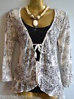 M&S Per Una lovely black / cream 2 piece jersey / lace top NEW size 8-20