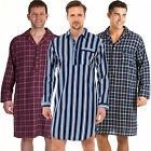 Mens Traditional Striped Nightshirt night shirt Brushed Flannel  pyjamas HT328