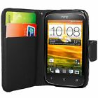 PU SYNTHETIC LEATHER CARD SLOT WALLET FLIP CASE COVER FOR HTC DESIRE X C 500 601